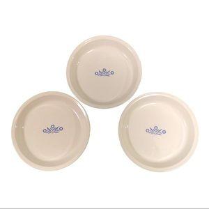 "CorningWare Blue Cornflower 9"" Pie Plate Set of 3"